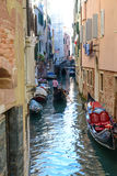 Gondola in the Grand Canal Royalty Free Stock Image