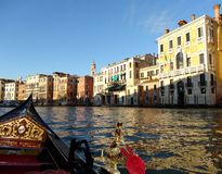 Gondola on the Grand Canal, Venice Royalty Free Stock Photo