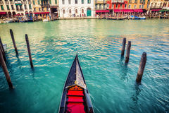 Gondola on Grand canal in Venice Royalty Free Stock Images