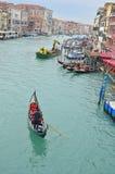 Gondola on the Grand Canal Stock Photo