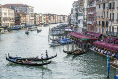 Gondola on the Grand Canal, Venice, Italy Royalty Free Stock Photography