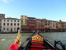 Gondola on the Grand Canal, Venice royalty free stock photos