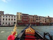 Gondola on the Grand Canal, Venice royalty free stock photos