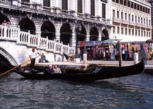 Gondola on Grand Canal, Venice. Stock Image