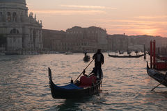 Gondola in the Grand Channel Royalty Free Stock Image