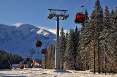 Gondola - GRAND JET - Slovakia. New cybleway in Skicentre Jasná in Slovakia Stock Photos