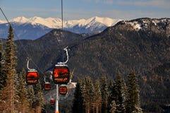 Gondola - GRAND JET - Slovakia. New cableway in Skicentre Jasná in Slovakia Royalty Free Stock Photos