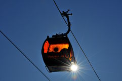 Gondola - GRAND JET - Slovakia. New cableway and sun  in Skicentre Jasná in Slovakia Stock Photos