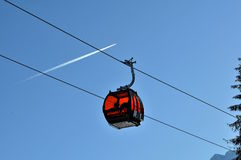 Gondola - GRAND JET - Slovakia. New cableway and jet in Skicentre Jasná in Slovakia Stock Images