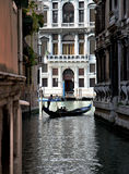 gondola, grande canale, Venezia Fotografie Stock