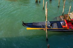 Gondola on Green Water Stock Photos