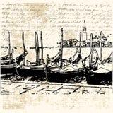 Gondola Grunge Letter Royalty Free Stock Image