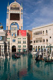 Gondola at Hotel and Casino in Las Vegas, Nevada Royalty Free Stock Photo