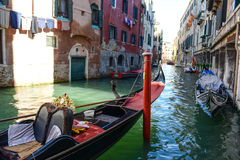 Gondola i budynki Fotografia Royalty Free