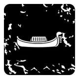 Gondola icon, grunge style Royalty Free Stock Photos