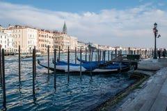 Gondola, kanał Wenecja, Włochy Zdjęcia Royalty Free