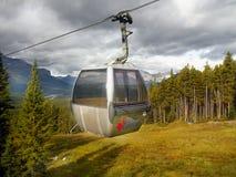 Lake Louise Ski Resort Gondola Summer, Banff NP. Gondola in Lake Louise Ski Resort, Banff National Park. Alberta Canada stock images