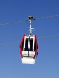 Gondola lift and blue sky Stock Photo