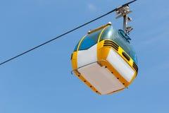 GONDOLA LIFT. A gondola lift cabin called telegondola royalty free stock photography