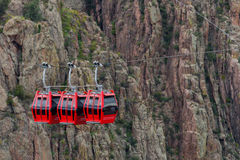 Gondola lift cable car - royal gorge colorado. Red gondola lift cable car at the royal gorge near canon city colorado Royalty Free Stock Image