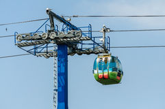Gondola lift cable and tower Royalty Free Stock Photo