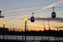 Gondola lift in London Royalty Free Stock Photo