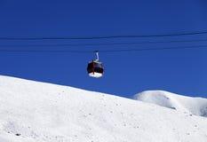 Gondola lift and off piste ski slope Stock Image