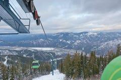 Gondola Lift Over Valley Stock Photos