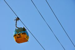 Gondola lift in Romania Royalty Free Stock Photo