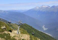 Gondola lift. Rosa Khutor in Krasnaya Polyana Stock Photography