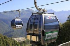 Gondola lift. Rosa Khutor in Krasnaya Polyana Royalty Free Stock Photo