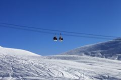 Gondola lift at ski resort Royalty Free Stock Image