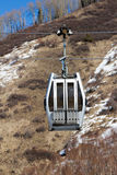 Gondola lift in the ski resort Stock Photography