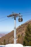 Gondola lift in the ski resort Royalty Free Stock Images