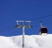 Gondola lift at ski resort in nice day Stock Photo