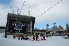 Gondola lift station Stock Images