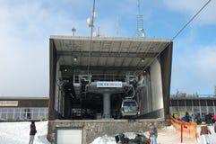 Gondola lift station Stock Photo