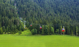 Gondola lift to famous Triassic Park, Tirol Royalty Free Stock Images