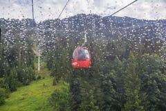 Gondola lift to famous Triassic Park, Tirol Royalty Free Stock Image