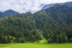 Gondola lift to famous Triassic Park, Tirol Stock Images