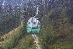 Gondola lift to famous Triassic Park, Tirol Stock Photo