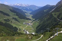 Gondola lift to Hintertux, Ziller Valley, Austria Stock Image