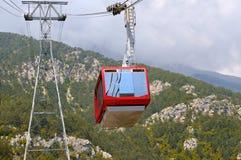 gondola lift to the top of the mountains Stock Photos