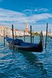 Gondola moored on the Grand Canal, Venice Royalty Free Stock Image