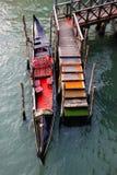 Gondola moored Royalty Free Stock Photography