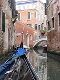 Gondola. That moves through the channel Royalty Free Stock Photography