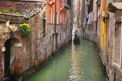 Gondola in a canal, Venice, Italy Stock Image