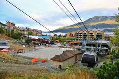 Gondola nel Whistler, BC, il Canada Fotografia Stock
