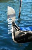 Gondola parcheggiata a St Mark & x27; quadrato di s, Venezia immagine stock libera da diritti