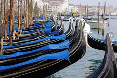 Gondola parking Royalty Free Stock Photos